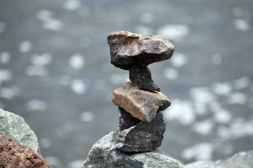 zen, Zen & nbsp, uolos, Rokas, akmenys, balansas, vanduo, ramybė, meditacija, Zen uolos