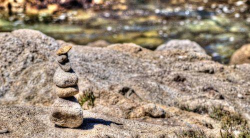 Zen & nbsp, uolos, zen, akmenys, balansas, vandenynas, gamta, lauke, naujas & nbsp, amžius, dvasingumas, Zen uolos