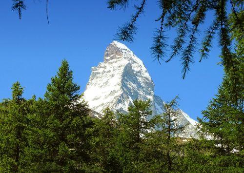 Zermatt, Matterhorn, Kalnai, Šveicarija, Valais