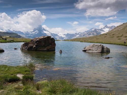 Zermatt, Stellisee, Matterhorn