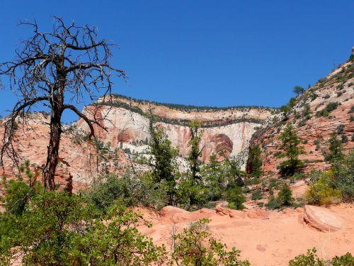 Sion Nacionalinis Parkas, Utah, Usa, Rokas, Formavimas, Raudona, Erozija, Karštas, Sausas, Dykuma, Smėlio Akmuo, Gamta, Turistų Atrakcijos, Peizažas, Pietvakarių Usa