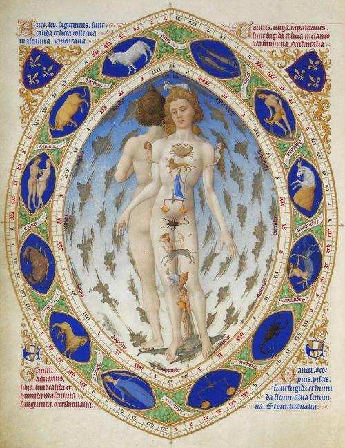 zodiako,astrologija,Zodiako ženklas,horoskopas,très riches heures du duc de berry,piešimas,žmogus