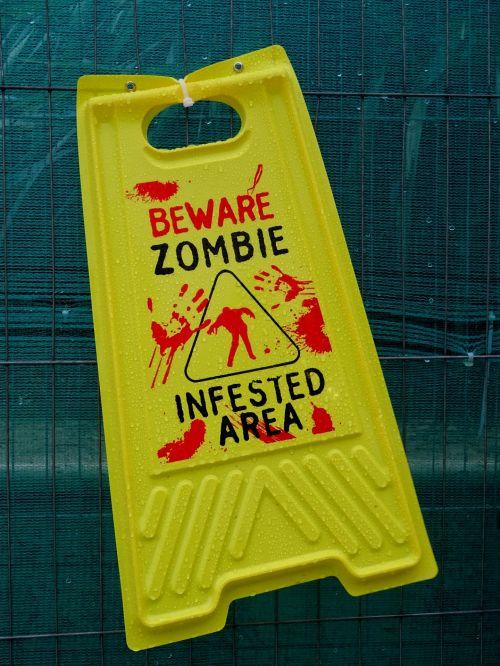 Zombie, zombiai, košmaras, košmarai, įspėjimas, ženklas, ženklai, panika, baugus, Halloween, ragana, raganos, siaubas, siaubingas, nužudyti, nužudymas, stiebas, persekiotojas, sulaikymas, įsiuvas, gory, vaiduoklis & nbsp, vaiduoklis, vaiduoklis, vampyras, ghouls, vampyras, mirti, mirtis, miręs, žudikas, Zombie infested area warning