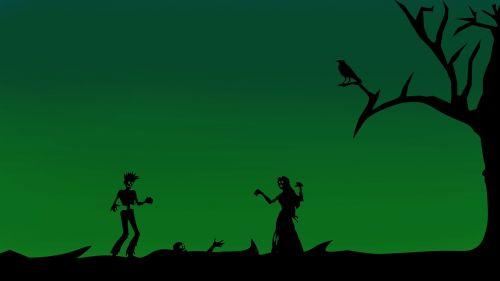 zombiai,siluetas,mergaitė,berniukas,Halloween,baugus,siaubas,pistoletas,creepy,miręs,mirtis,tamsi,košmaras,žudyti zombius,rekreacinė,taupanti mergina,Rokas,teroras,Undead,pilka masta,tapetai,hd tapetai,tamsi medžiai,skaitmeninis menas,skaitmeninis turinys,photoshop menas,silueto peizažas,silueto menas,grafika