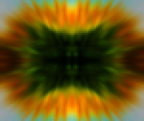 priartinti, žalias, geltona, šviesus, mozaika, priartinti mozaiką