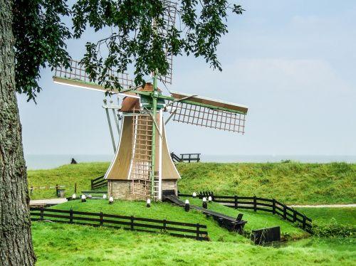 pietinė jūra, muziejus, lauko & nbsp, muziejus, seni amatai, malūnas, autentiškas, Zuiderzee muziejus