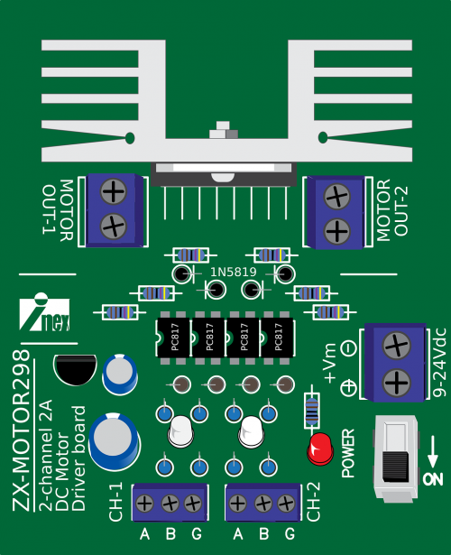 zx-motor298,variklio vairuotojas,vairuotojas,variklio valdymas,l298,robotų valdymas,robotas,robotas,nepakanka,novatoriškas eksperimentas,kontrolė,variklis,nemokama vektorinė grafika